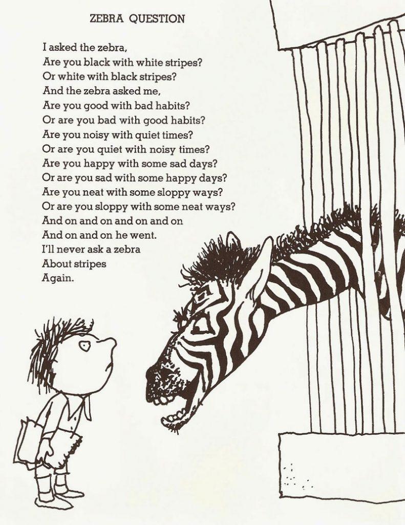 پرسش از گورخر (Zebra Question)؛ سروده شل سیلورستاین